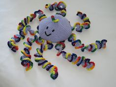 -Crochet toy animal stuffed soft Large Rainbow by GalyaKireva
