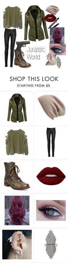 """Jurassic World/Park"" by gueng ❤ liked on Polyvore featuring LE3NO, Halogen, Balmain, Steve Madden, Lime Crime and Lucky Brand"