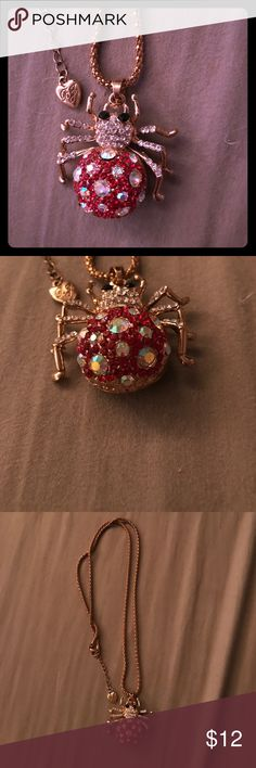 Spider Necklace Betsey Johnson spider necklace Betsey Johnson Jewelry Necklaces