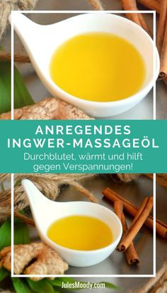 Anregendes und pflegendes Ingwer-Massageöl This wonderful homemade massage oil has a stimulating and Beauty Tips For Hair, Diy Beauty, Healthy Foods To Eat, Healthy Life, Rides Front, Oils For Skin, Anti Aging Cream, Diy Skin Care, Natural Cosmetics