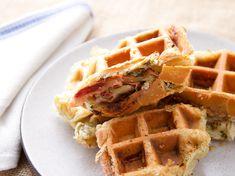 20140513-puff-pastry-waffle-mortadella.jpg savory mortadella, garlic and caper puff pastry waffle