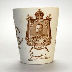 Royal Doulton Antique King George V & Queen Mary Coronation Crystal Palace Mug