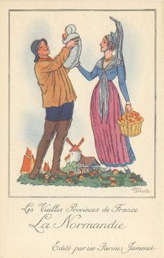 Carte postales anciennes Costume-de-normandie