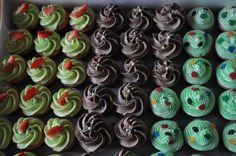 Mini assortment of cupcakes