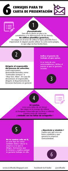 ¿Cómo diferenciarse del resto? La clave está en la carta de presentación ~ ESPAI DE RECERCA ACTIVA DE FEINA #empleo #infografia #infographic