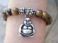 Buddha Bracelet,Tiger Eye by MakeMeSmileJewelry on Etsy,