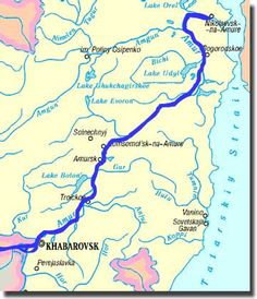 Map of Amur river