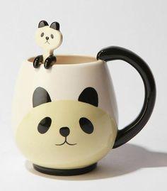 Panda Mug Cup Set with Spoon - Kitchen