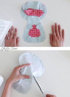 Step 5 - Sew a Bunny - DIY Easter Bunny Tutorial - Free Pattern to sew this cute bunny - would make a great baby gift! - Melly Sews
