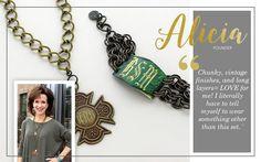 Vintage Gold Round Link Charm Necklace JN0759-0024 $34   Vintage Gold Embossed Celtic Cross Pendant JP0503 $26   Ironworks Athena Bracelet JB0459-02 $44