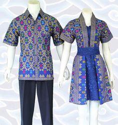 baju batik couple pasangan dress modern wanita dan kemeja cowok di http://senandung.net/batik-sarimbit/