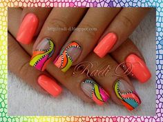 Love these bright #nails