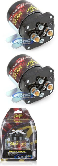 other car a v installation stinger nd battery relay isolator  other multipurpose batteries stinger sgp32 200 amp car battery isolator relay buy it now
