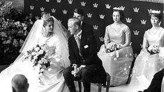 Princess Birgitta and the bridegroom Johan Georg von Hohenzollern during the wedding cermony