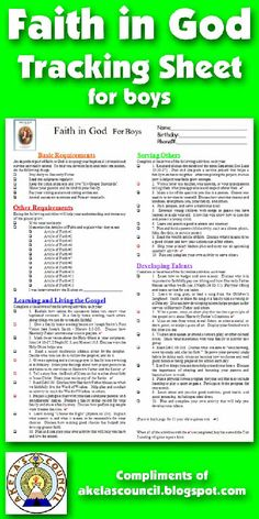 Need a way to track the FAITH IN GOD religious square knot for the Church of Jesus Christ of Latter Day Saints? This is a great PRINTABLE Tracking sheet. This site has other tracking sheets and a lot of great Cub Scout Ideas compliments of Akela's Council Cub Scout Leader Training.