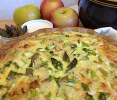 Spring quiche with asparagus and dill-laced crust. By GoodVeg contributor Graceonline. http://www.squidoo.com/spring-quiche-with-asparagus-and-dill-laced-crust