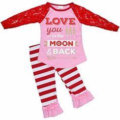 Bonnie Jean Valentine Heart Tutu Dress /& Capris Set Newborn 0-3 3-6 6-9 Months