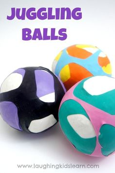 DIY & Crafts : How to make juggling balls using rice and balloons - Laughing Kids Learn - Do It Yourself : Explore & Discover the best and the most trending DIY inspirations Gross Motor Activities, Indoor Activities For Kids, Infant Activities, Preschool Activities, Crafts For Kids, Diy Crafts, Kids Diy, Decor Crafts, Homemade Toys