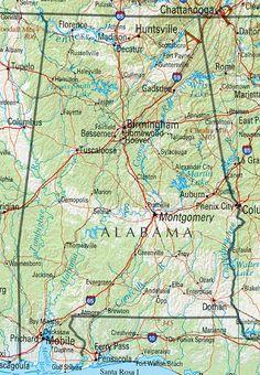 Alabama Alabama Reference Map