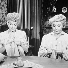 Lucille Ball and Vivian Vance Happy Birthday Lucy, I Love Lucy, My Love, Vivian Vance, Textiles, Yarn Store, Favorite Pastime, Lucille Ball, Many Faces