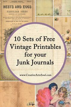 Journal Pages, Junk Journal, Journals, Journal Ideas, Bullet Journal, Ephemera Printables Free, Scrapbooking, Creative Journal, Vintage Labels