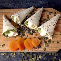 My Casual Brunch: Cornucópias Wrap de guacamole e queijo fresco