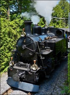 The steam engine DFB HG N° 3 of the heritage railway Blonay-Chamby pictured near the depot of Chaulin on May Train Car, Train Tracks, Heritage Railway, Road Transport, Train Times, Old Trains, Rolling Stock, Steam Engine, Steam Locomotive