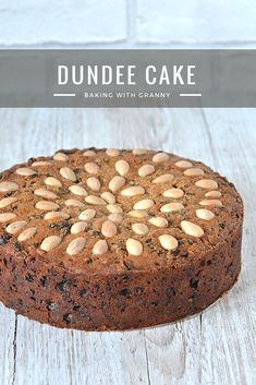 Dundee Cake ~ When it comes to cake, I still feel like I'm on a journey of discovery. Cakes were always what Granny made when I was growing up and as such, I never really took to them. Tea Cakes, Food Cakes, Fruit Cakes, Dundee Cake Recipe, Baking Recipes, Dessert Recipes, Uk Recipes, Holiday Recipes, Desserts