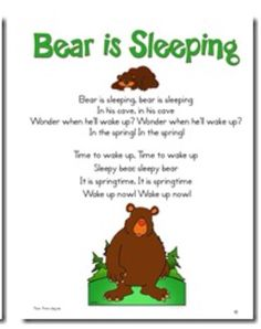 A fun winter song for preschool circle time. Bears Preschool, Preschool Music, Preschool Activities, Winter Songs For Preschool, Winter Activities, Preschool Camping Theme, Preschool Circle Time Songs, November Preschool Themes, Pool Activities