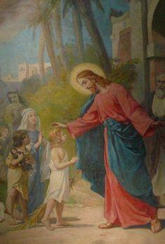 Jesus Cristo Dizendo Deixai as criancas vir a mim- Igreja de Sao Felipe de Neri - Savigliano - Italia..jpg
