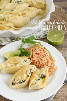 Chicken Enchilada Stuffed Shells