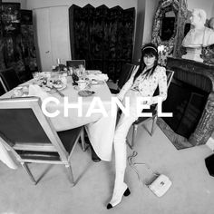 "CHANEL on Instagram: ""Inside the dining room of Gabrielle Chanel's apartment at 31 rue Cambon in Paris, model Lola Nicon takes centre stage for a series of…"""