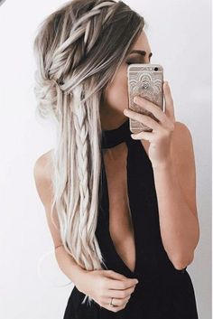 Shaggy Blonde Waves - 40 Picture-Perfect Hairstyles for Long Thin Hair - The Trending Hairstyle Long Thin Hair, Long Curly Hair, Curly Hair Styles, Hair Styles Party, Hairdos For Curly Hair, Thick Hair, Pretty Hairstyles, Braided Hairstyles, 1940s Hairstyles