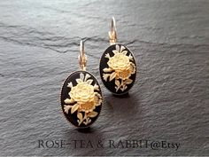 Floral Posy Cameo Earrings  Petite Size  18x13mm  https://www.etsy.com/uk/listing/539011315/floral-posy-cameo-earrings-petite-size?ref=related-1