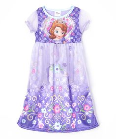 Look at this Purple Sofia Fantasy Nightgown - Toddler & Girls on #zulily today!