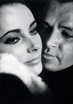 Elizabeth Taylor and Richard Burton in a publicity photo for The V.I.P.s (1963) | by Colorized by TOSHIO.Y