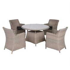 Buy Kew 5 Piece Outdoor Wicker Dining Set - Light Brown/Charcoal from LivingStyles for Australia wide delivery. This set comprises 1 x table and 4 x chairs. Light brown wicker with charcoal cushions. Indoor Outdoor Furniture, Wicker Furniture, Outdoor Decor, Wicker Dining Set, Storage Baskets, Charcoal, Shelves, Sunroom, Brown