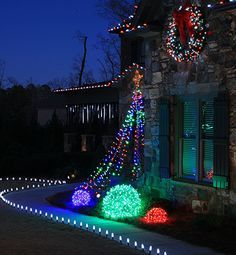 How to create an outdoor christmas tree from pvc pipe and christmas diy basketball hoop christmas tree top 10 outdoor christmas lights ideas i will mozeypictures Image collections