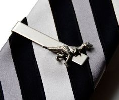 Dinosaur Tie Clip - Tie Bar - Tie Clasp - Business Gift - Handmade - Gift Box Included on Etsy, $27.00