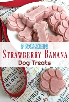 Frozen Strawberry Banana Dog and People Treats! - Mom Does Reviews