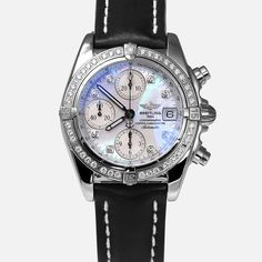 8db66627ccef Breitling Cockpit Chronograph MOP Factory Diamond Watch A13357. Certified Pre  OwnedBreitling WatchesPre ...