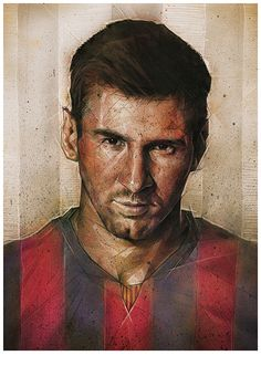 Lionel Messi by Dave Merrell Messi 10, Good Soccer Players, Football Players, Fc Barcelona, Mario Gotze, Argentina National Team, Football Art, Soccer Boys, Poster S