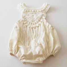 Boho Hand crocheted bubble romper by KensingtonLaneKids on Etsy https://www.etsy.com/listing/236219762/boho-hand-crocheted-bubble-romper