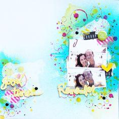 MrsDiaz layout Remember good times - Scrapbook