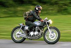 LACQUERED FINNISH. Sami Karvonen's 'Woodie' '77 Honda CB500 Cafe Racer - Pipeburn.com