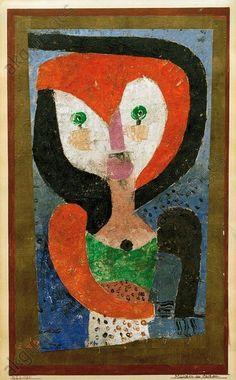 Mädchen aus Sachsen 1922 Paul Klee #abstractart