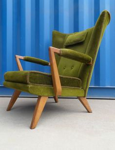 Vtg 50s 60s Mid Century Danish Era E Gomme G Plan Low Wing Back Lounge Arm Chair