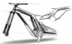 pure design... pure sketch Audi, Bicycle Sketch, Electric Bike Review, Electric Vehicle, Trick Riding, Trial Bike, Industrial Design Sketch, Bike Style, Bike Frame