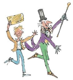 ~charlie & willy wonka~ Tony Ross, Quentin Blake, Bullet Journal Themes, Pick And Mix, Willy Wonka, Roald Dahl, Chocolate Factory, Children's Literature, Book Illustrations