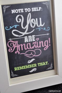 You are amazing framed printable by Club Chica Circle.